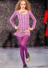 Purple tights to the purple dress