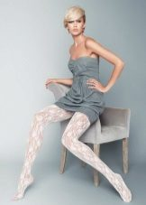 White tights to gray dress
