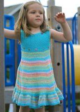 Vestido de malha de verão para meninas