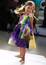 Vestido elegante de verão para meninas fofo