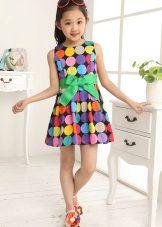 Vestido de verão para meninas com estampa geométrica