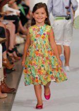 Vestido colorido de verão para meninas