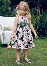 Vestido de verão para meninas com estampa floral