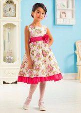 Vestido de verão para meninas com flores