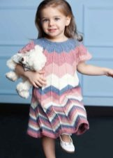 Vestido de malha de verão para meninas 5 anos