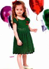 Vestido de malha de verão para meninas 6 anos