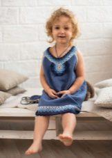 Vestido de malha de verão para meninas de 4 anos