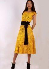 Vestido de malha de verão para meninas midi