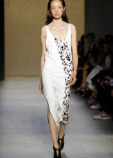Fashionable dress with a print of a season spring-summer of 2016