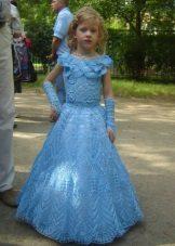 Vestido elegante para meninas de malha longa