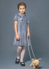 Vestido elegante para meninas 8-9 anos de veludo
