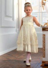 Vestido elegante para a menina cheia da silhueta A