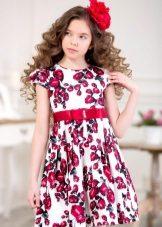 Vestido elegante para a menina cor curta
