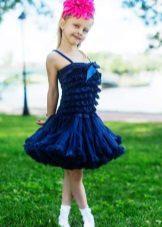 Vestido elegante com saia americana para meninas