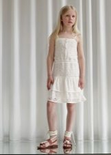 Vestido elegante vestido de verão para a menina