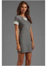 harmaa minijakajan mekko