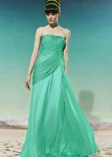 vihreä ilta organza-mekko