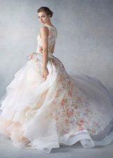 virtaava organza-mekko