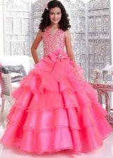 Vestido fofo rosa para formatura 4 aula