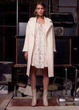 beyaz kısa dantel elbise ceket