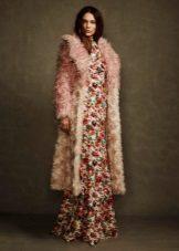 מעיל פרווה שמלה ארוכה