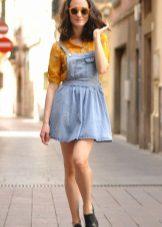 Camisa brilhante para vestido de denim sundress