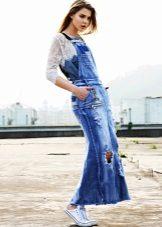 Jaqueta de renda para um vestido de jeans, vestido de verão