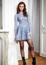 acessórios para vestido de noite de renda azul
