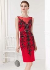 Bolsa para o vestido de bainha vermelha