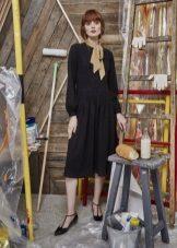 Scarf to midi knit dress