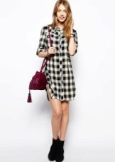 Bag for a checkered shirt dress