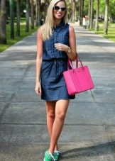Bag for denim shirt dress