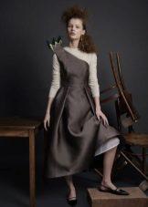 Gola alta para vestido cinza