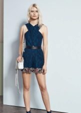 Bag to blue short dress