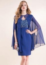 light cape to blue dress
