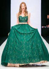 Cinto para o vestido verde longo
