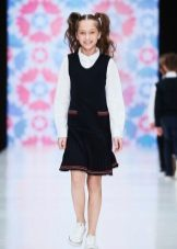 Vestido de escola para meninas de malha