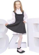Vestido de escola para meninas em tiras