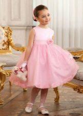 Vestido de formatura no jardim de infância rosa exuberante