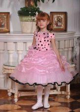 Vestido de formatura no jardim de infância rosa a-silhouette