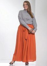 faldilla maxi taronja per a dones obeses