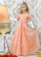 Vestido de ano novo para a menina império estilo pêssego