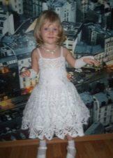 Vestido de malha de ano novo do floco de neve para a menina
