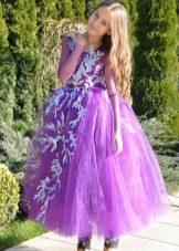 Vestido de ano novo para a menina lilás