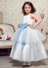 Vestido magnífico de ano novo o floco de neve para a menina