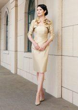 vestido de tafetá requintado