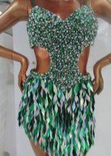 Латино рокля с ресни