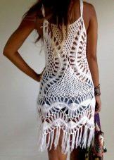 Трикотажна рокля с ресни