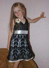 Vestido de crochê para meninas 5 anos
