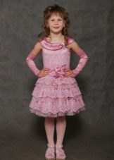 Vestido de baile de malha para meninas 5 anos